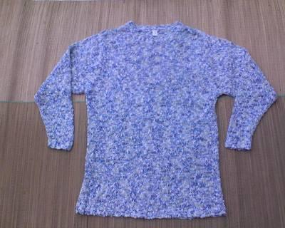 Hosszított fazonú buklé pulóver kb. 42-44-es