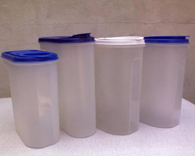 Négy darab műanyag tároló doboz