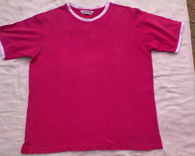 *REALITY pink rövid ujjú póló L-es