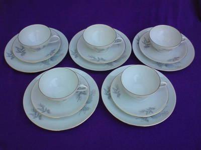 Rieber BAVARIA porcelán kávéskészlet 15 db