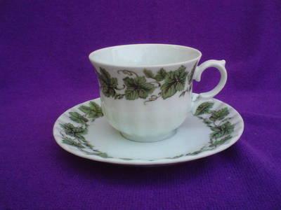 Porcelán kávés csésze + csészealj
