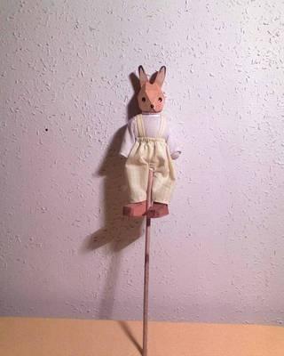 Húsvéti dekoráció >>> Nyuszi pálcán