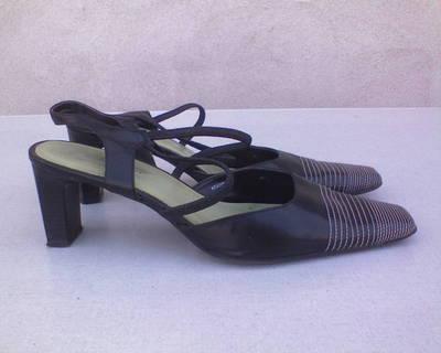 AKCIÓ! MARCO TOZZI fekete szandál/cipő 41-es