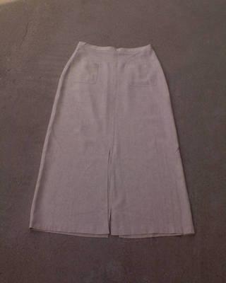 * Tört fehér zsebes nyári midi szoknya kb. 38-40-es