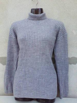 Szürke  kötött garbó pulóver M-es