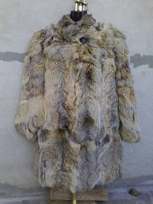 LUX térdig érő elegáns bunda/kabát kb 40/42