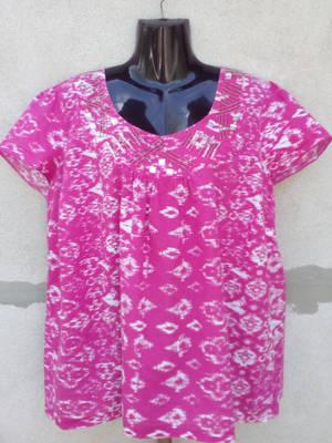 Bm Pink-fehér flitteres köves blúz XL=UK20